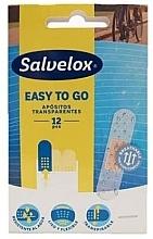 Парфюмерия и Козметика Прозрачни водоустойчиви пластири - Salvelox Easy To Go Transparent