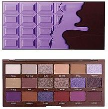 Парфюмерия и Козметика Палитра сенки за очи, 18 цвета - I Heart Revolution Eyeshadow Palette Violet Chocolate