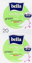 Парфюмерия и Козметика Дамски превръзки Perfecta Green Drai Ultra, 2х10 бр. - Bella