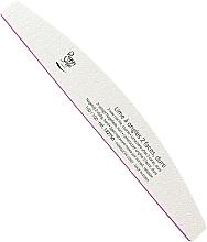 Парфюмерия и Козметика Двустранна пила за нокти, твърда, 100/100, бяла - Peggy Sage 2-Way Half-Moon Nail File