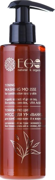 Измиващ тонизиращ мус с AHA-киселини - ECO Laboratorie Toning Washing Mousse