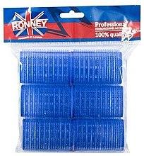 Парфюми, Парфюмерия, козметика Велкро ролки за коса 40/63, сини - Ronney Professional Velcro Roller
