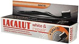 Парфюми, Парфюмерия, козметика Комплект - Lacalut White & Repair (паста за зъби 75ml + четка 1 бр.)
