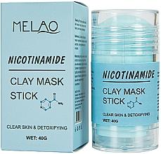 Парфюмерия и Козметика Стик глинена маска за лице с никотинамид - Melao Nicotinamide Clay Mask Stick