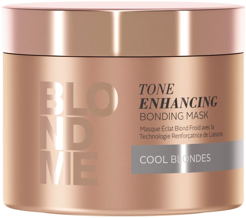 Възстановяваща маска за руса коса за неутрализиране на жълти оттенъци - Schwarzkopf BlondMe Tone Enhancing Bonding Mask