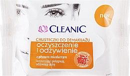 """Парфюми, Парфюмерия, козметика Кърпички """"Почистване и подхранване"""", 20 бр. - Cleanic Make Up Removal Wipes"""