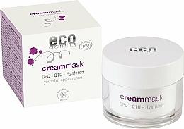 Парфюмерия и Козметика Крем-маска за лице с хиалурон - Eco Cosmetics Cream Mask With OPC Q10 & Hyaluron