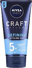 Парфюмерия и Козметика Стилизиращ гел за коса с матоф ефект - Nivea Men Craft Stylers Defining Styling Gel