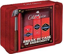 Парфюми, Парфюмерия, козметика Комплект - Old Spice Captain Vintage Tin Box (део/50ml+душ гел/250ml+афтър. балсам/100ml)