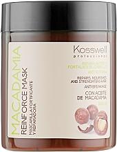 Парфюмерия и Козметика Укрепваща маска за коса с масло от макадамия - Kosswell Professional Macadamia Reinforce Mask