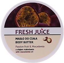 Парфюмерия и Козметика Масло за тяло с маракуя и макадамия - Fresh Juice Passion Fruit & Macadamia