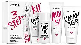 Парфюмерия и Козметика Комплект за лице - Artemis of Switzerland Skinlove 3 Step Daily Routine Kit (гел/30ml+тоник/30ml+гел-крем/20ml)