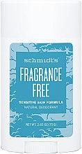Парфюми, Парфюмерия, козметика Натурален дезодорант - Schmidt's Deodorant Sensitive Skin Fragrance Free Stick
