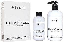 Парфюмерия и Козметика Системна защита и възстановяване на косата - Stapiz Deep Plex System No.1 & No.2 Set (hair/emulsion/150ml+hair/emulsion/290ml)