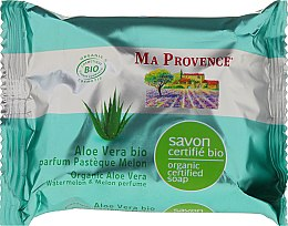 Парфюмерия и Козметика Био-органичен сапун с алое вера и аромат на диня и пъпеш - Ma Provence Organic Soap