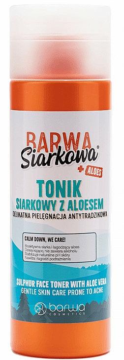 Тоник за лице със сяра и алое - Barwa Siarkowa + Aloes