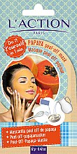 Парфюми, Парфюмерия, козметика Маска за лице с пилинг ефект на основата на папая - L`Action Paris Do It Yourself Papaya Peel-Off Mask