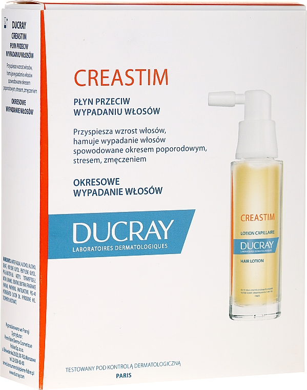 Лосион против косопад - Ducray Creastim Anti-hair Loss Lotion — снимка N1