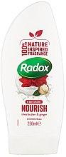 Парфюми, Парфюмерия, козметика Крем душ гел - Radox Moisturising Nourish Shea Butter & Ginger Shower Cream