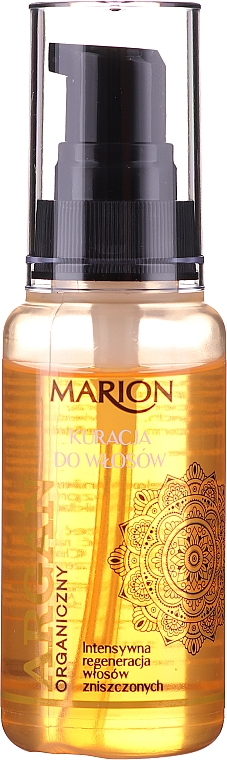 Лек балсам за коса с арганово масло, без отмиване - Marion Hair Treatment With Argan Oil