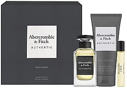 Парфюмерия и Козметика Abercrombie & Fitch Authentic Men - Комплект (тоал. вода/100ml + тоал. вода/15ml + душ гел/200ml)
