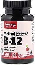 "Парфюмерия и Козметика Хранителна добавка ""Метил B-12"", таблетки за смучене - Jarrow Formulas Methyl B-12 Cherry Flavor 500 mcg"