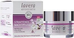 Парфюмерия и Козметика Нощен крем за лице с лифтинг комплекс - Lavera Straffende Nachtpflege Green Lift Complex