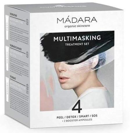 Комплект за лице - Madara Cosmetics Multimasking Treatment Set (маски/12,5ml*4 + ампули/3ml*2) — снимка N1