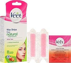 Парфюми, Парфюмерия, козметика Депилиращо восъчни ленти с арганово масло за лице - Veet Natural Inspirations Face Wax Strips
