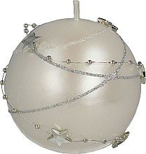 Парфюмерия и Козметика Декоративна свещ, бяла, 8см - Artman Christmas Garland