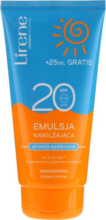 Водоустойчива, овлажняваща и слънцезащитна емулсия - Lirene Sun Care Emulsion SPF20