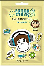 """Парфюмерия и Козметика Енергизираща памучна маска за лице """"Маймунка"""" - Marion Funny Mask"""
