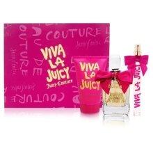 Парфюми, Парфюмерия, козметика Juicy Couture Viva La Juicy - Комплект (edp/100ml + b/l/125ml + edp/10ml)