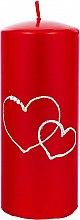 Парфюмерия и Козметика Декоративна свещ, червена, 7х17см - Artman Forever