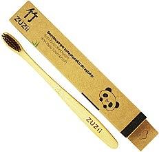 Парфюми, Парфюмерия, козметика Бамбукова четка за зъби с меки кафяви косъмчета - Zuzii Soft Toothbrush