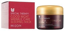 Парфюмерия и Козметика Подхранваща нощна маска против бръчки с ретинол - Mizon Good Night Wrinkle Care Sleeping Mask