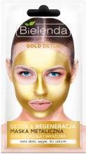 Парфюми, Парфюмерия, козметика Детокс маска за зряла и чувствителна кожа - Bielenda Gold Detox Metallic Mask