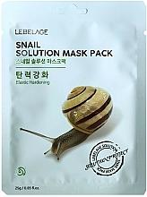 Парфюмерия и Козметика Памучна маска за лице с екстракт от охлюв - Lebelage Snail Solution Mask