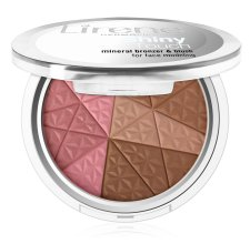 Парфюми, Парфюмерия, козметика Бронзант за лице - Lirene Shiny Touch Mineral Bronzer & Blush