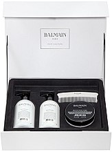 Парфюмерия и Козметика Комплект за коса - Balmain Paris Hair Couture Silver Revitalizing Care Set (mask/200ml+h/couture/300ml+shampoo/300ml+brush)