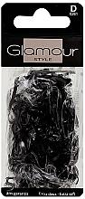 Парфюмерия и Козметика Ластици за коса, 0261, черни - Glamour