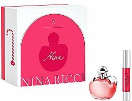 Парфюмерия и Козметика Nina Ricci Nina - Комплект (тоал. вода/50ml + червило/2.5g)
