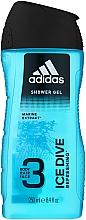 Парфюмерия и Козметика Душ гел - Adidas Ice Dive Body, Hair and Face Shower Gel