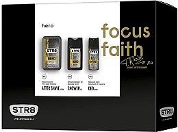 Парфюми, Парфюмерия, козметика STR8 Hero - Комплект (афтършейв/100ml + душ гел/250ml + дезодорант/150ml)