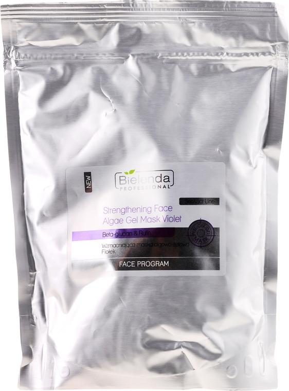 """Укрепваща алгинатна гел маска """"Теменужка"""" - Bielenda Professional Program Face Strengthening Face Algae Gel Mask Violet (пълнител)"""