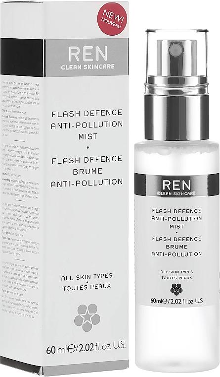 Защитен спрей за лице - Ren Flash Defence Anti-Pollution Mist — снимка N1