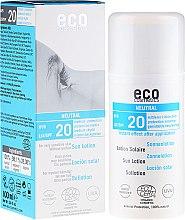 Парфюмерия и Козметика Слънцезащитен лосион, без аромат - Eco Cosmetics Sun Lotion SPF 20