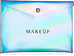 """Парфюми, Парфюмерия, козметика Прозрачен козметичен несесер """"Holographic"""", 22x15см - MakeUp"""