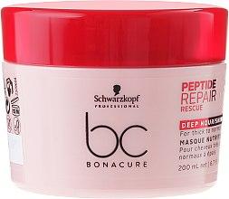 Парфюми, Парфюмерия, козметика Възстановяваща маска за плътна и нормална коса - Schwarzkopf Professional BC Peptide Repair Rescue Deep Nourishing Mask