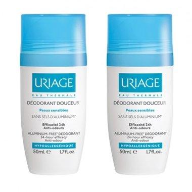 Комплект - Uriage Deodorant Douceur Roll-On (deo/50ml + deo/50ml) — снимка N1